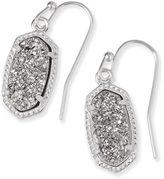 Kendra Scott Lee Silver Earrings in Platinum Drusy