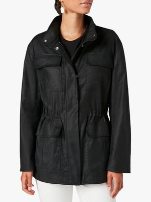 Jigsaw Twill Field Utility Jacket, Black