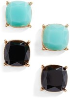 BP Women's Square Stud Earrings (Set Of 2)