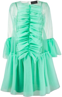 Gianluca Capannolo Ruffle Trim Tulle Dress