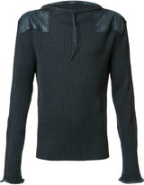 Maison Margiela long sleeve rib top - men - Cotton/Wool - M