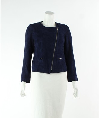 Sandro Navy Suede Jackets