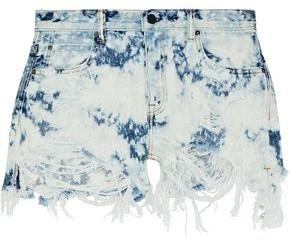 Alexander Wang Bleached Distressed Denim Shorts