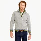 J.Crew Summit fleece full-zip jacket in heather stone