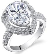 Ice 3 CT TW Cubic Zirconia Polished Sterling Silver Engagement Ring