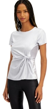 INC International Concepts Inc Twist-Front Shine T-Shirt, Created for Macy's
