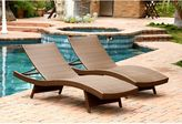 Abbyson Living® Palermo Outdoor Wicker Chaise Lounges (Set of 2)