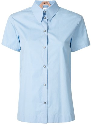 No.21 Open Layered Back Shirt
