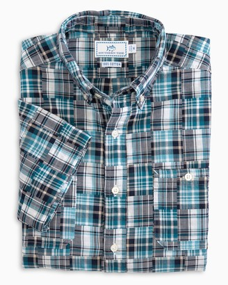Southern Tide Short Sleeve Patchwork Dock Shirt