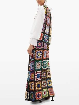 Ashish Sequinned Patchwork Crochet Maxi Skirt - Womens - Multi