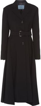 Prada Belted Mid-Length Coat