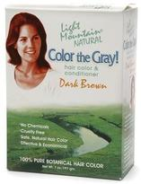 Light Mountain Natural Color the Gray! Hair Color & Conditioner Kit Dark Brown