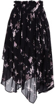 Thumbnail for your product : Preen Line Sumin Asymmetric Floral-print Crepe Skirt