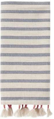 Pottery Barn Blake Wrapped Tassel Stripe Napkins