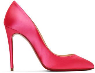 Christian Louboutin Pink Satin Pigalles Follies 100 Heels