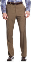 Haggar Men's Big & Tall Stria Classic-Fit ECLO Flat-Front Dress Pants
