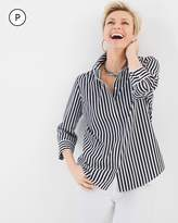 Chico's Striped Button-Back Shirt