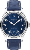Montblanc 113702 1858 manual stainless steel and leather watch