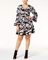 INC International Concepts Plus Size Fit & Flare Sweater Dress, Created for Macy's