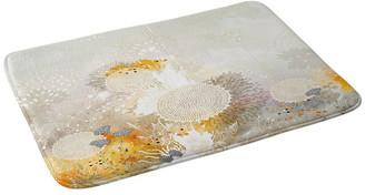 "Deny Designs Iveta Abolina White Velvet Memory Foam Bath Mat, 24""x36"""