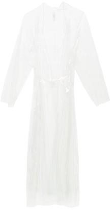 Norma Kamali Dolman Transparent Pvc Trench Coat - Womens - Clear