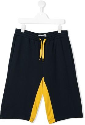 John Galliano TEEN varsity colour block shorts