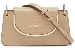 Thumbnail for your product : DKNY Faith Small Flap Leather Crossbody
