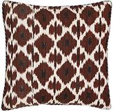 Madeline Weinrib Daphne Ikat Silk-Cotton Pillow-BROWN