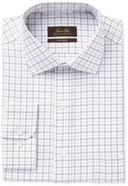 Tasso Elba Men's Classic-Fit Non-Iron Tan Windowpane Check Dress Shirt, Only at Macy's