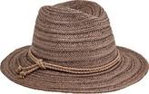 San Diego Hat Company Fedora with Double Knot Braid Trim PBF7312 (Women's)