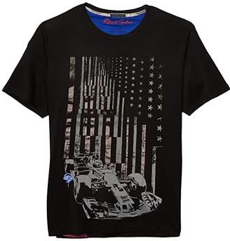 Robert Graham Raise Your Flag T-Shirt (Black) Men's Clothing
