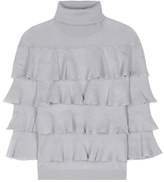 Valentino Ruffled Turtleneck Virgin Wool Sweater