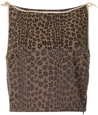 Fendi Pre-Owned Leopard Print Cropped Top