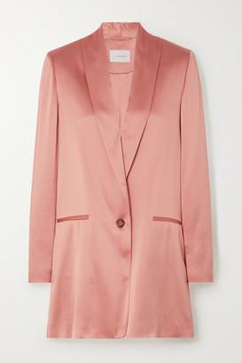 LA COLLECTION Amandine Silk-satin Blazer - Blush