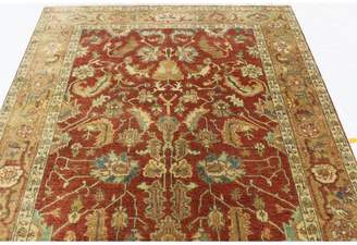 """Schiff Canora Grey One-of-a-Kind Oriental Hand-Knotted 5'10"""" x 8'9""""Wool Red Area Rug Canora Grey"""