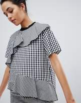 Sportmax Code Gingham Woven T-Shirt