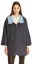 Ellen Tracy Outerwear Women's Wool Double Face Cape