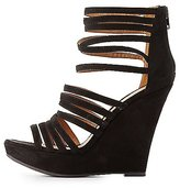Charlotte Russe Qupid Strappy Wedge Sandals