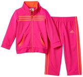 adidas Girls 4-6x Tricot Track Jacket & Pants Set