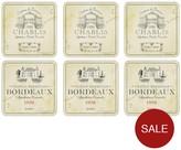 Pimpernel Vin De France Coasters Set Of 6