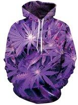 AMOMA Unisex Realistic 3D Digital Print Pullover Hoodie Hooded Sweatshirt(S/M,)