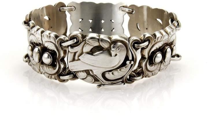 Georg Jensen 925 Sterling Silver Dove 6 Station Bracelet