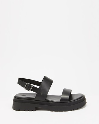 Windsor Smith Women's Black Flat Sandals - Loyalty - Size 6 at The Iconic