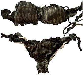 Bikini Lovers Black Cotton - elasthane Swimwear