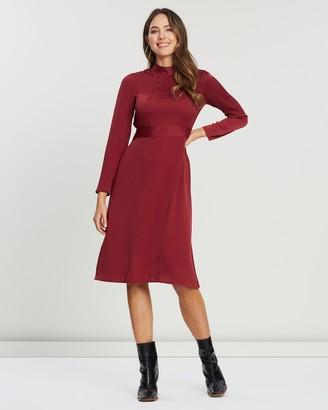 Closet London Long Sleeve High-Neck Dress