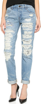 Blank Distressed Boyfriend Jeans