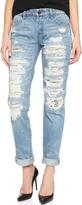 Blank Distressed Boyfriend Jeans