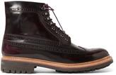 Grenson Sebastian Polished-Leather Brogue Boots