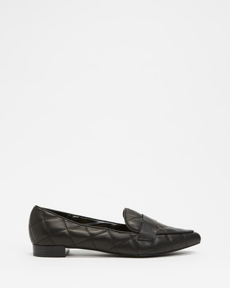 Atmos & Here Atmos&Here - Women's Black Loafers - Cass Quilted Leather Loafers - Size 5 at The Iconic