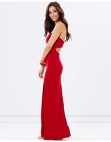 Strapless Evening Dress with Split